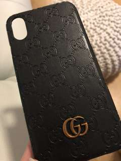 Gucci IPhone X Leather Case