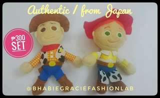 Toy Story Woody and Jessie plush toys