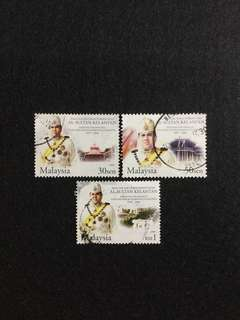2004 Sultan of Kelantan Silver Jubilee 3 Values Used Set
