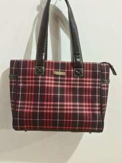 Burberry maroon shoulder bag