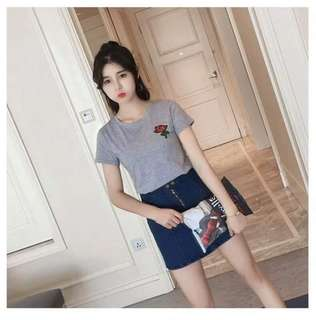 Floral Patch Tee Shirt