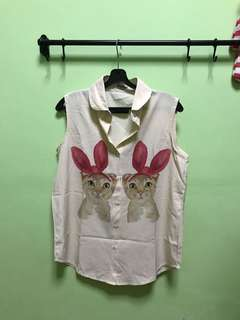 Vintage Style Cat Top