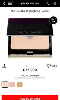 Kevyn Aucoin Celestial highlighter Candle light