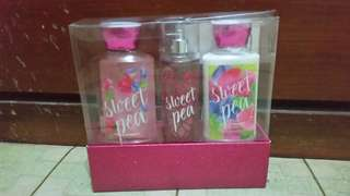 Sweet Pea Perfume, Body Lotion & Body Showergel