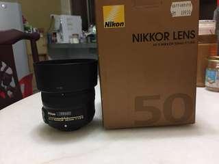 Nikon 50mm f1.8G