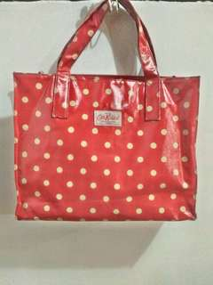 Authentic Cath Kidston red polka bag
