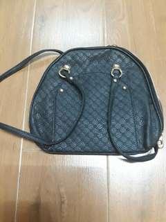 Black leather minibag