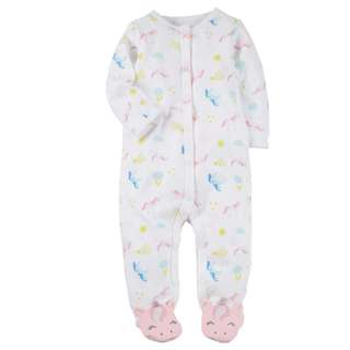 BN 6m Snap-Up Cotton Sleep & Play Unicorn/Strawberry