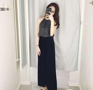 Shimmer black top
