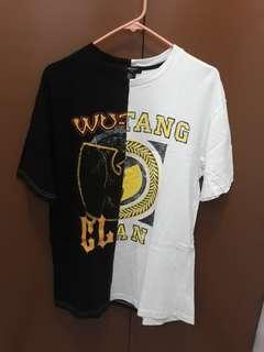 Forever 21 Wu Tang Clan Spli Hem Shirt Oversized