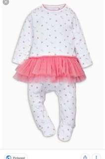 Next Baby Tutu Sleepsuit 0-1mo