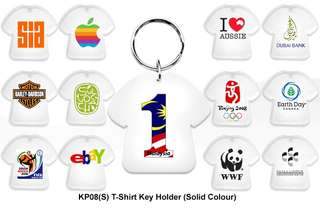 Wholesale T-Shirt Key Holder - Plastic (Solid colour)