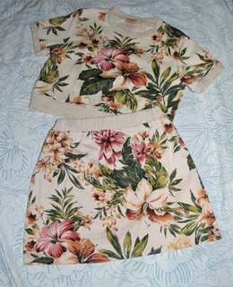 Floral Top and Skirt