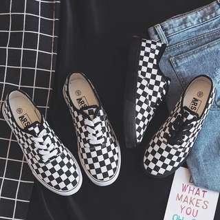 Vans Inspired Checkered Old Skool Sneakers