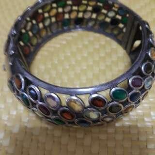 寶石銀手環