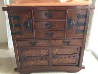 Antique Cabinet - korean wheel chest
