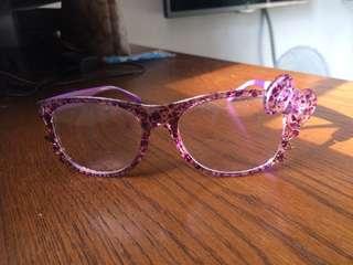 Hello Kitty purple stylish glasses