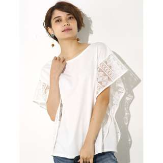 Frilled race sleeve 2 WAY top
