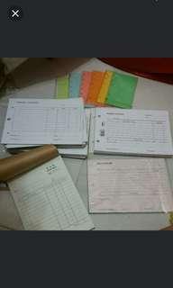 BN Office Business Sales Journal Payment Voucher Pads & Organiser Refill Whole Lot