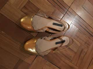 Zara gold shoes