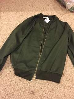NEW khaki bomber jacket