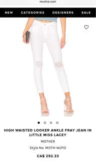 High waisted off white denim jeans