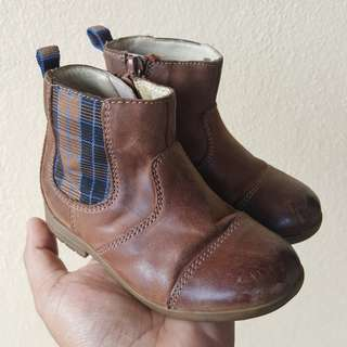 Clarks First Shoes Genuine Leather Boots for Toddler
