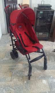 chicco stroller red(Last price posted)