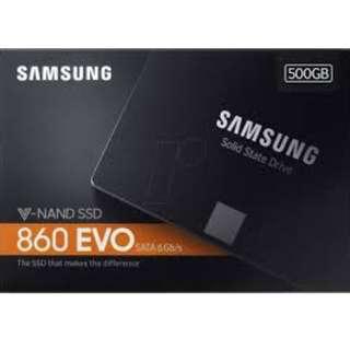 SAMSUNG 860 EVO [500 GB] 2.5 SATA III. 3D V-NAND Flash memory.