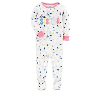 BN 18m Carters Cotton Sleep & Play Best Sister