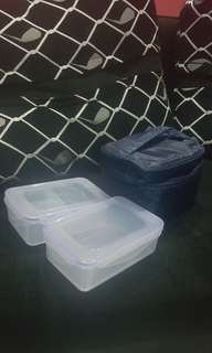 Insulated Lunch Bag with 2 containers