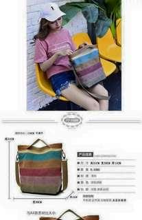 Stripe sling bag