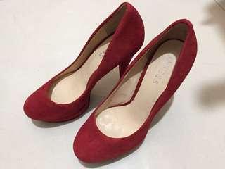 包順豐站自取 Guess Red High Heels 36 紅色高跟鞋