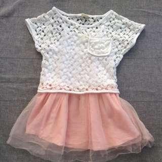 二手 正韓 兩件式洋裝 (尺寸1-2歲)