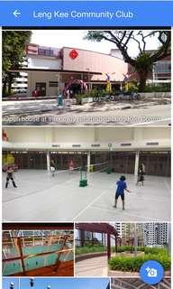 Badminton courts at Leng Kee CC