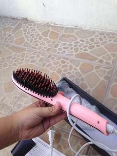 Fast Hair Brush Straightener