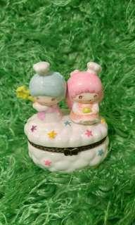 Sanrio ts little twin stars littletwinstars 雙子星 星仔 星女 陶瓷 陶器 飾品 盒