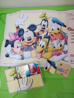 Disney  Mickey Mouse puzzles Kid  toys