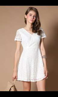 TSW Aster Lace Dress in White