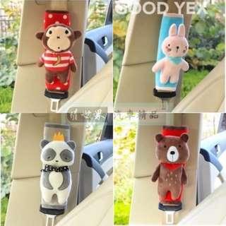 權世界@汽車用品 卡通造型立體玩偶 可愛超卡哇伊 安全帶保護套 1入 KSA-001-五種樣式選擇
