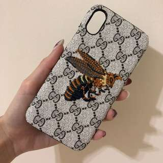 Gucci 蜜蜂刺繡手機殼 手機套 保護殼 iPhonex 10 apple