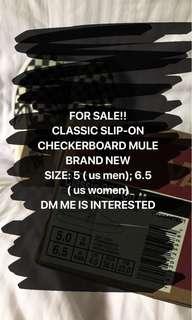 Original Vans Checkerboard Mule (US WOMEN- 6.5 : US MEN- 5)