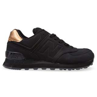 New Balance 574 WOMENS black/gold metallic