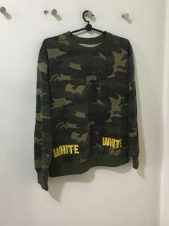 Army Print Long Sleeves Women Sweater