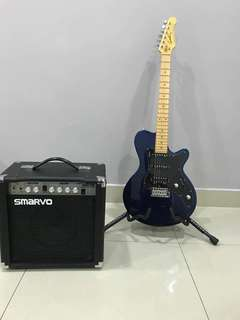 Godin Electric Guitar with Amplifier