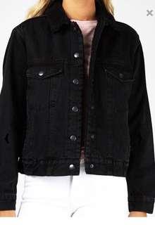 General Pants Oversized Cali Denim Sherpa Jacket