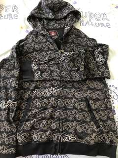 Tribal black hooded men's jacket