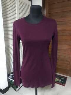 Long Sleeves (black & maroon)