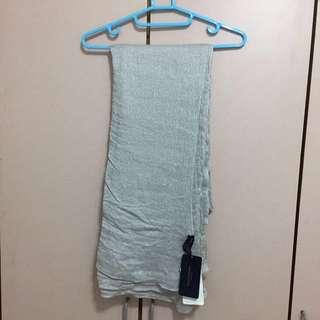 🚚 Zara 銀色圍巾(全新) #一百元好物