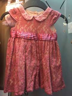 Mothercare Pink Lace Dress